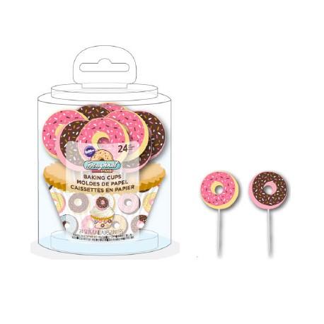 """Caissettes et pics """"Donuts"""""""