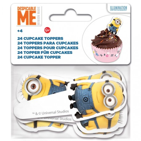 "Toppers pour cupcakes ""Minions"""
