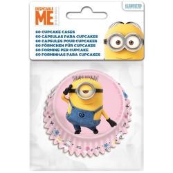 """60 caissettes pour cupcakes """"minions"""""""