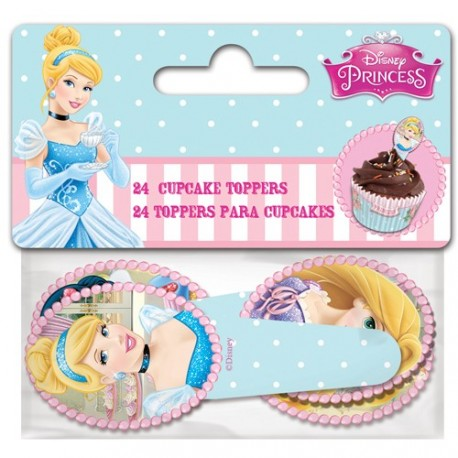 "24 Toppers pour cupcakes ""Princesses"""