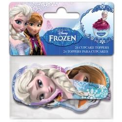 "24 Toppers pour cupcakes ""Reine des Neiges"""