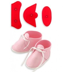 """Emporte-pièce """"chausson de bébé"""" grandeur nature"""