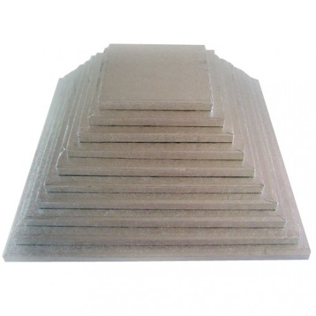 Support à gâteau carré épaisseur 11mm - Différentes tailles