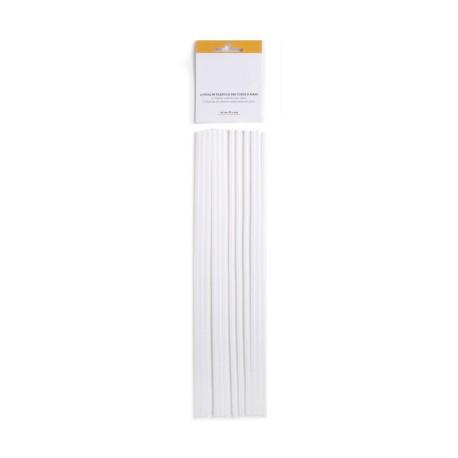 12 bâtons en plastique pour pièces montées (30cm)