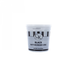 """Crème au """"beurre"""" prête à l'emploi (Buttercream) - Couleur noir"""