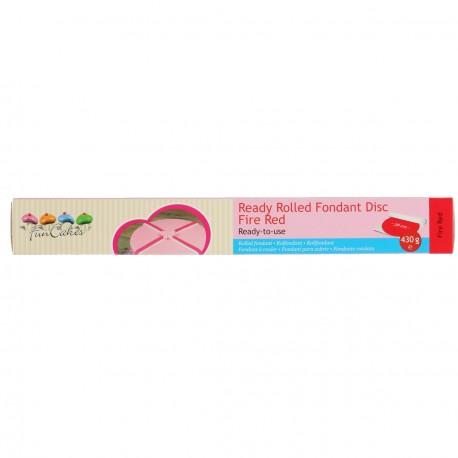 Pâte à sucre pré-étalée Rouge