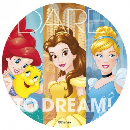 Disque comestible Princesses Disney 20 cm