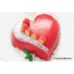 """Moule ne silicone pour gâteau """"Cœur d'amour"""""""