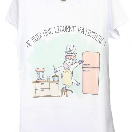 "T-shirt ""Licorne pâtissière"""