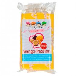 Pâte à sucre jaune goût mangue-passion