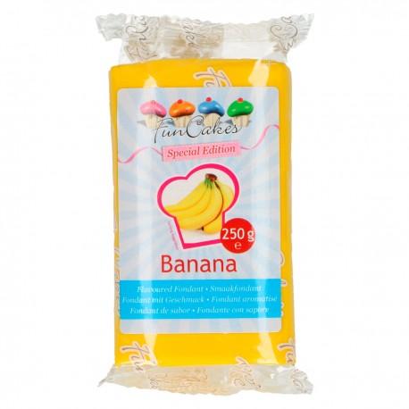 Pâte à sucre jaune goût banane