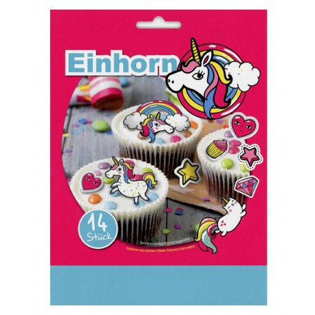 Toppers pour cupcakes licornes