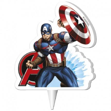 Bougie d'anniversaire Captain America