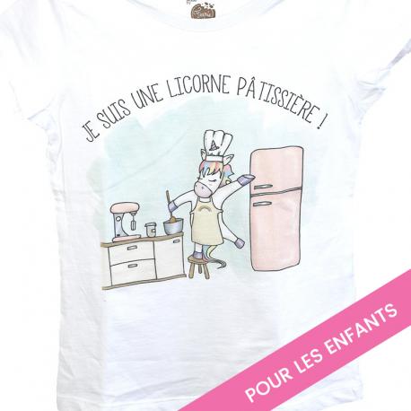"""T-shirt enfant """"licorne pâtissière"""""""