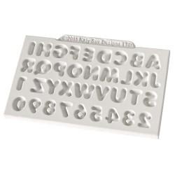 """Moule à gumpaste en silicone """"Alphabet et chiffres"""""""