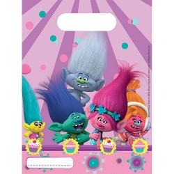 "6 sacs à bonbons ""Trolls"""
