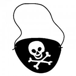 "Lot de 6 cache-œils ""Pirate"""