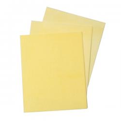12 feuilles azyme jaune - 17,8 x 14,2 cm