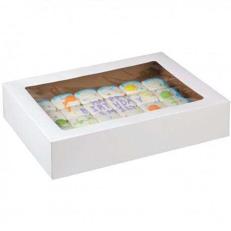 2 boîtes à gâteaux 48,2 x 35,5 x 10 cm avec fenêtre