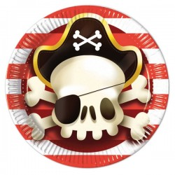 "8 Assiettes en carton ""Pirates"""