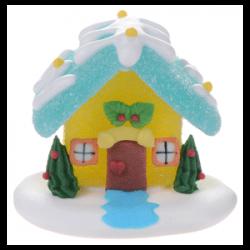 """Figurine en sucre """"Maison de Noël jaune"""""""