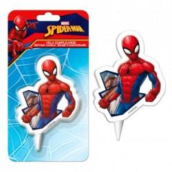 """Bougie d'anniversaire """"Spiderman musclé"""""""