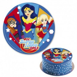 "Disque en sucre 20 cm - ""DC super hero girls"""