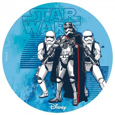 Disque de pâte à sucre Star Wars 16cm