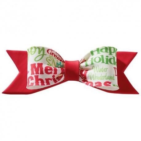 Nœud rouge de Noël en gumpaste