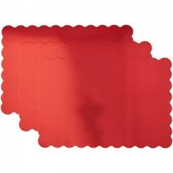 Lot de 3 supports à gâteaux rouge - 33 x 48.2 cm