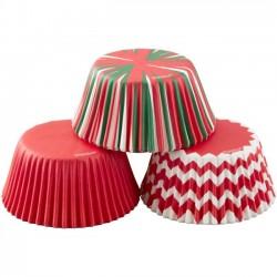 75 caissettes standards aux couleurs de Noël