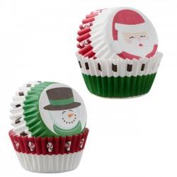 """100 mini caissettes """"Père Noël"""""""
