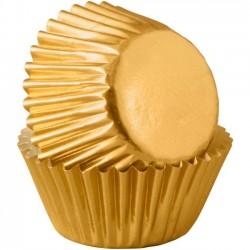 80 mini caissettes dorées