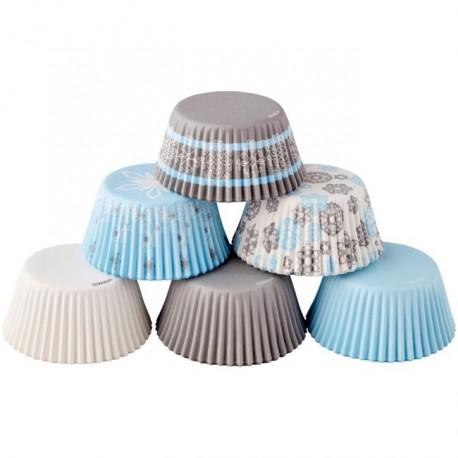 """Assortiment de 150 caissettes à cupcakes """"flocons"""""""