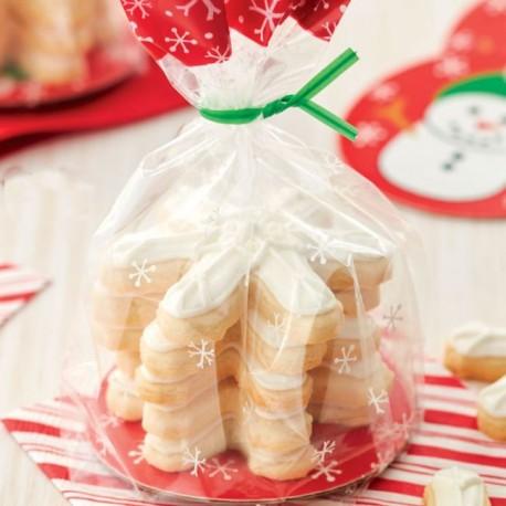 """8 sachets à biscuits """"Bonhomme de neige"""""""