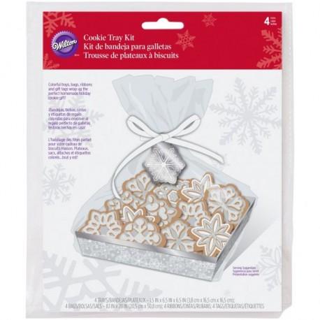 """4 plateaux à biscuits """"flocon de neige"""""""
