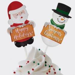 """12 pics à cupcakes """"Noël"""""""