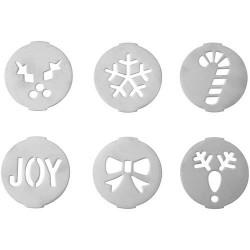 """6 disques pour impression sur biscuit """"Noël"""""""