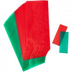 8 sachets à biscuits et confiseries - Vert et Rouge