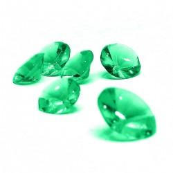 """24 faux diamants comestibles """"vert"""""""
