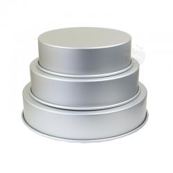 3 moules à gâteaux ronds pour wedding cake - 25,4 - 30,5 - 35,6 x 7,6 cm