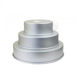 3 moules à gâteaux ronds pour wedding cake - 20,3 - 27,9 - 33 x 7,6 cm