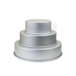 3 moules à gâteaux ronds pour wedding cake - 17,8 - 25,4 - 33 x 7,6 cm