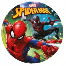 "Disque en sucre ""Spiderman"" - 20 cm"