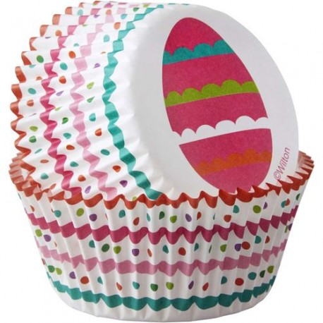 """50 caissettes à cupcakes """"œuf de Pâques"""""""