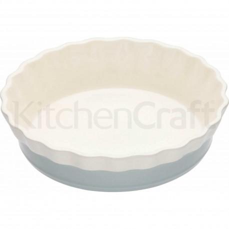 Plat à tarte cannelé en céramique
