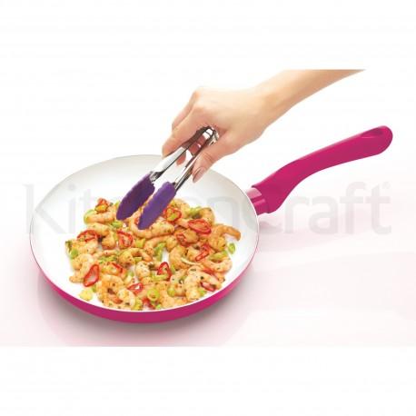 Poêle à frire en céramique antidérapante - Violet
