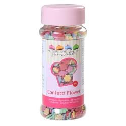 Confettis multicolores fleurs