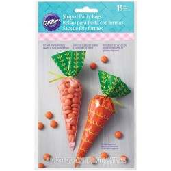 """15 sachets à confiseries """"carotte"""""""