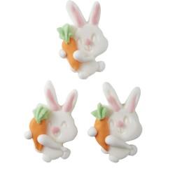 """12 décors en sucre """"lapin et sa carotte"""""""
